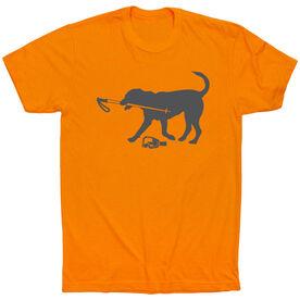 Skiing Short Sleeve T-Shirt Sven The Ski Dog