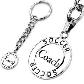 Soccer Circle Keychain Coach