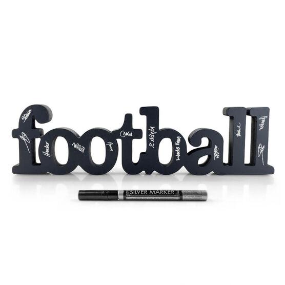 Football Ready For Team Autograph Wood Words