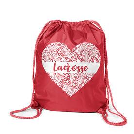 Girls Lacrosse Sport Pack Cinch Sack - Lacrosse Heart