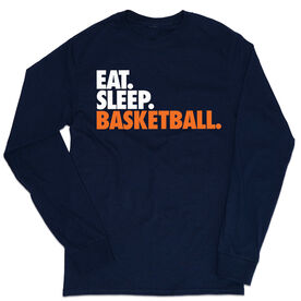 Basketball Tshirt Long Sleeve - Eat. Sleep. Basketball