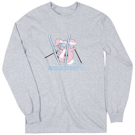 Skiing Tshirt Long Sleeve Ski Bunny