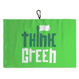 Golf Bag Towel Think Green