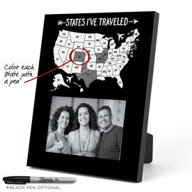 Personalized Photo Frame - States I've Traveled
