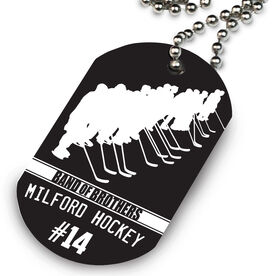 Hockey Printed Dog Tag Necklace Personalized Band of Brothers