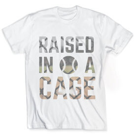 Vintage Baseball T-Shirt - Raised In A Cage