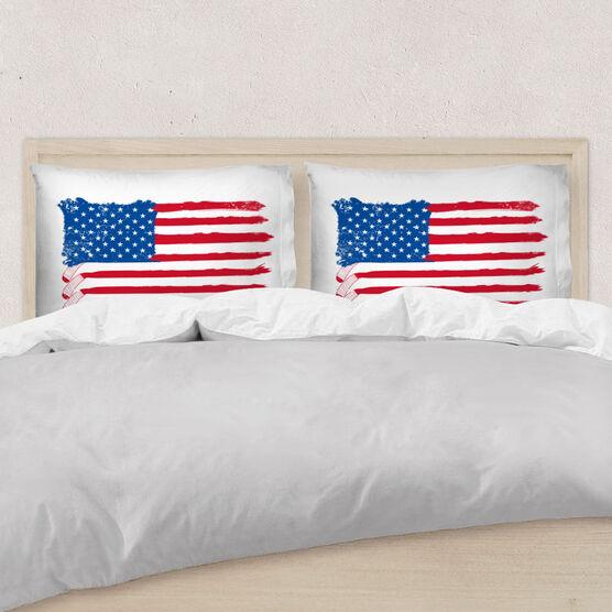Hockey Pillowcase - American Flag Sticks