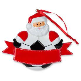 Soccer Ornament - Soccer ball Santa
