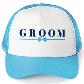 Personalized Trucker Hat - Groom (Bowtie)