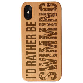 Swimming Engraved Wood IPhone® Case - I'd Rather Be Swimming