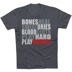 Hockey Tshirt Short Sleeve Bones Saying
