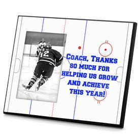 Hockey Personalized Photo Frame Hockey Ice Rink Custom Text