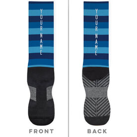 Printed Mid-Calf Socks - Your Name with Stripes