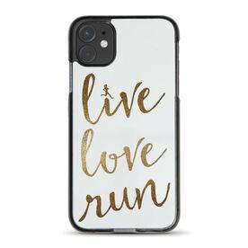 Running iPhone® Case - Live Love Run Faux Glitter