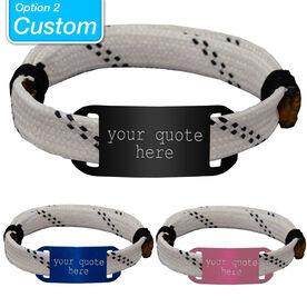 CUSTOM RaceLACE Mantra Bracelet - WHITE