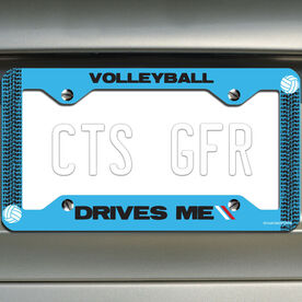 Volleyball License Plate Holder Volleyball Drives Me