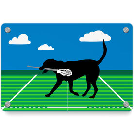 Guys Lacrosse Metal Wall Art Panel - Max The Lax Dog