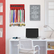 Baseball Hooked on Medals Hanger - Word