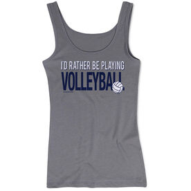 Volleyball Women's Athletic Tank Top I'd Rather Be Playing Volleyball