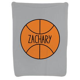 Basketball Baby Blanket - Personalized Basketball