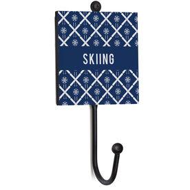 Skiing Medal Hook - Skiing Pattern