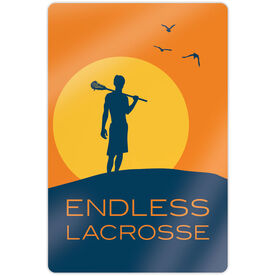 "Guys Lacrosse 18"" X 12"" Aluminum Room Sign - Endless Lacrosse Guy"