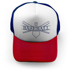 Baseball Trucker Hat - Crest