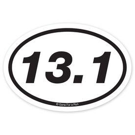 13.1 Half Marathon Decal (Black/White)