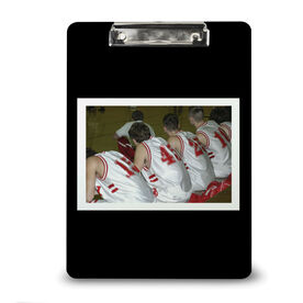 Basketball Custom Clipboard Basketball Your Photo Solid Background