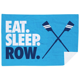 Crew Premium Blanket - Eat. Sleep. Row. Horizontal