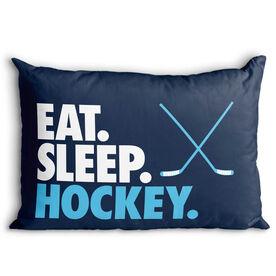 Hockey Pillowcase - Eat. Sleep. Hockey.