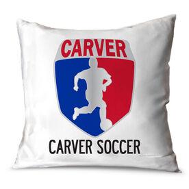 Soccer Throw Pillow Custom Soccer Logo With Team Name