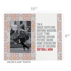 Softball Photo Frame - I'm A Softball Mom With Pattern