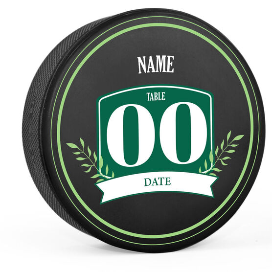 Personalized Hockey Puck - Wedding - Table Number