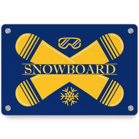 Snowboarding Metal Wall Art Panel - Crest