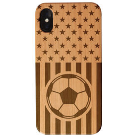 Soccer Engraved Wood IPhone® Case - USA Soccer