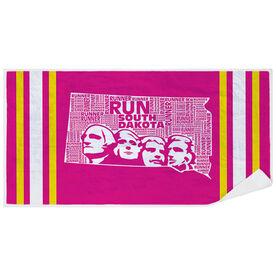 Running Premium Beach Towel - South Dakota State Runner