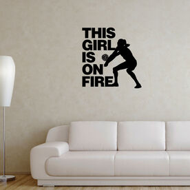 Volleyball Wall Decal This Girl Is On Fire