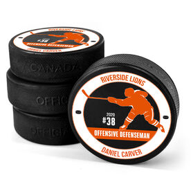 Personalized Hockey Puck - Team Awards Player