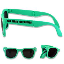 Foldable Hockey Sunglasses Give Blood Play Hockey