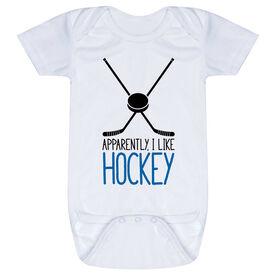 Hockey Baby One-Piece - I'm Told I Like Hockey