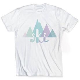 Skiing Vintage T-Shirt - Mountains
