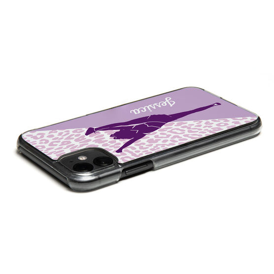 Cheerleading iPhone® Case - Personalized Cheerleader Silhouette