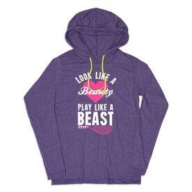 Women's Tennis Lightweight Hoodie - Look Like A Beauty Play Like A Beast