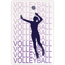 "Volleyball 18"" X 12"" Aluminum Room Sign - Fade"