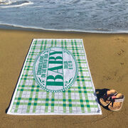 Personalized Premium Beach Towel - Congrats Baby
