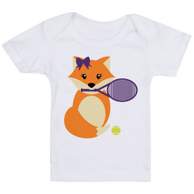 Tennis Baby T-Shirt - Tennis Fox