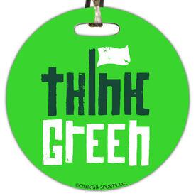 Golf Circle Bag/Luggage Tag Think Green