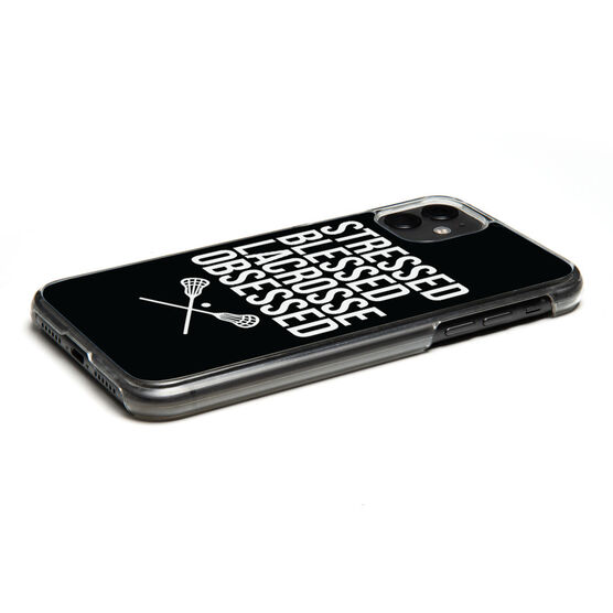 Lacrosse iPhone® Case - Stressed Blessed Lacrosse Obsessed