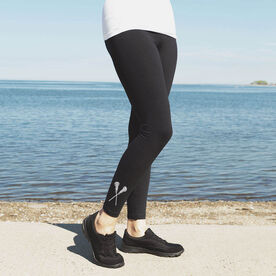 Girls Lacrosse Leggings - Crossed Sticks